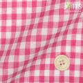 レディースサイズオーダージャケット リネン100% ピンクギンガムチェック 【S76SKJ856】