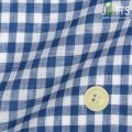 レディースサイズオーダージャケット リネン100% ブルーギンガムチェック 【S76SKJ857】