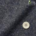 レディースサイズオーダージャケット 綿ポリエステル ネイビーツイル ジャズネップ起毛 【S76SKJA41】