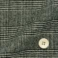 レディースサイズオーダージャケット ウール混紡 カシミヤ混紡 ブラック×ホワイトグレンチェック 【S76SKJB90】