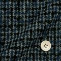 レディースサイズオーダージャケット ウール混紡 KNIT素材 ブルー×グレー×ブラックチェック 【S76SKJB94】