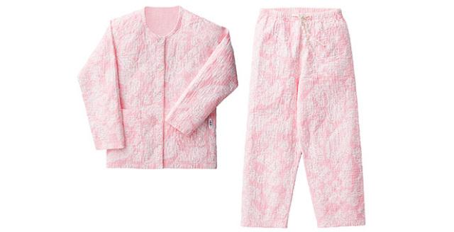 パジャマ デザインキルト 女性用(えり無 ツーピース)