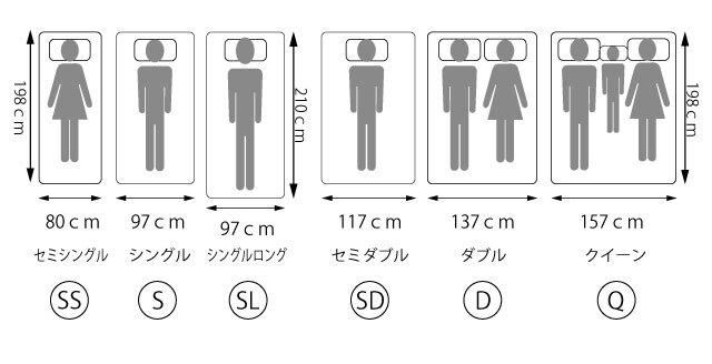 マットレスサイズss-sl-q