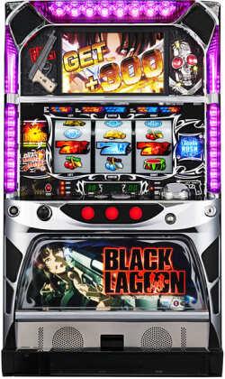 スパイキー パチスロBLACK LAGOON(ブラックラグーン)実機 【コイン不要機付き】