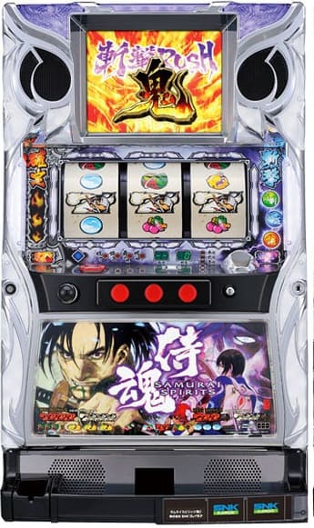 SNKプレイモア パチスロサムライスピリッツ鬼実機 【コイン不要機付き】