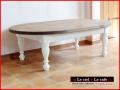 オーバル型ローテーブル