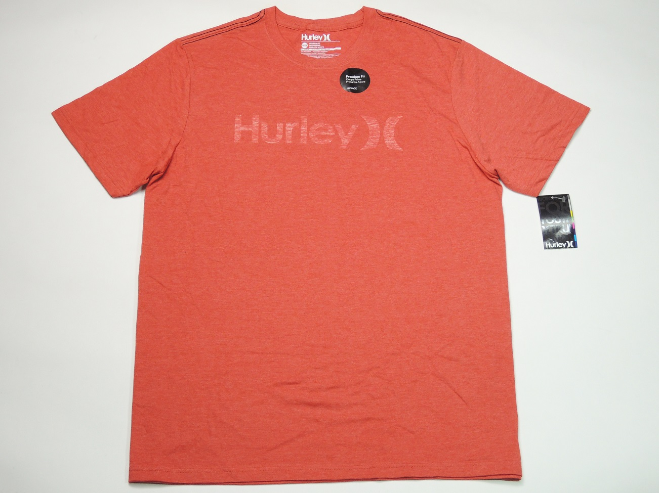 HURLEY  ONE & ONLY半袖TEE(ヘザーレッド)