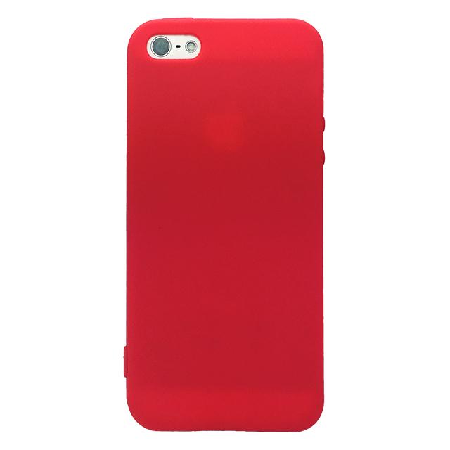 iPhone5/5s/5c シリコンケース/ レッド