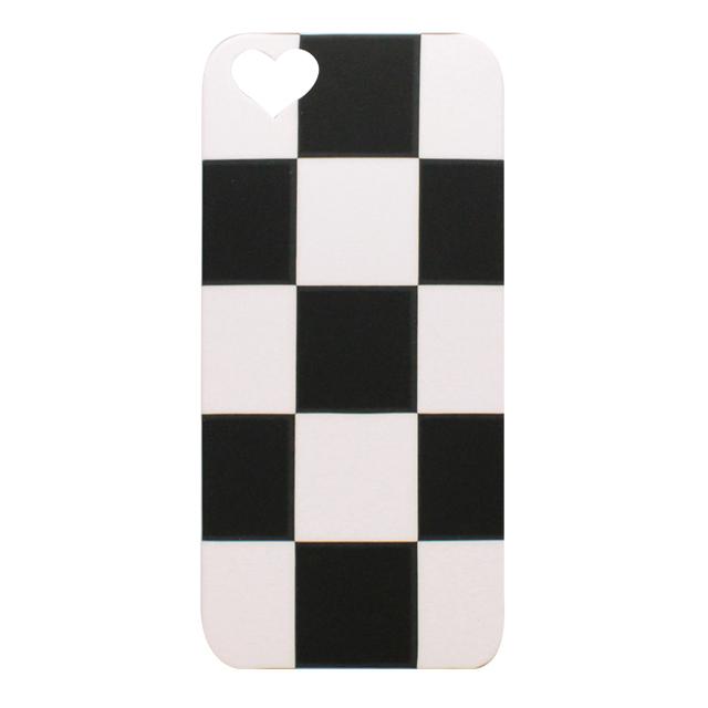 iPhone5/5s/5c シリコンケース / 市松模様