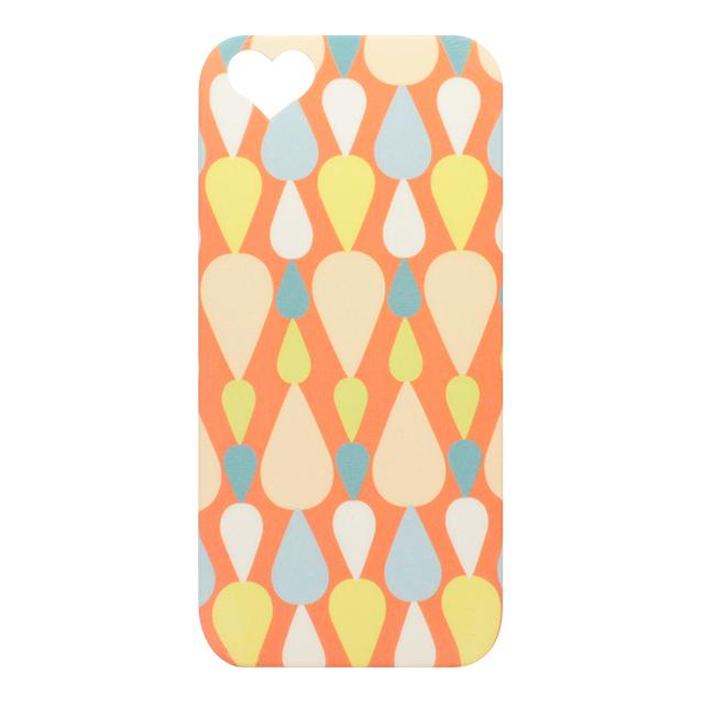 iPhone5/5s/5c シリコンケース / しずく柄 オレンジ