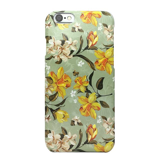 iPhone6/6s シリコンケース/ 花柄、ミルキーグリーン