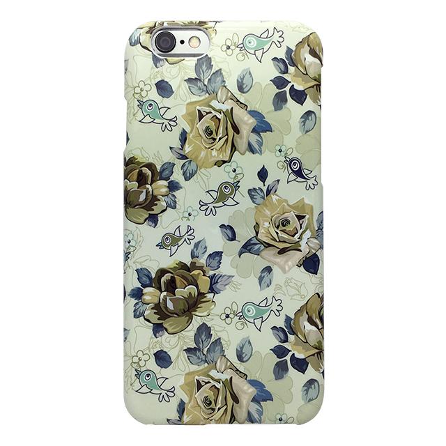 iPhone6/6s シリコンケース/ バラ ・鳥