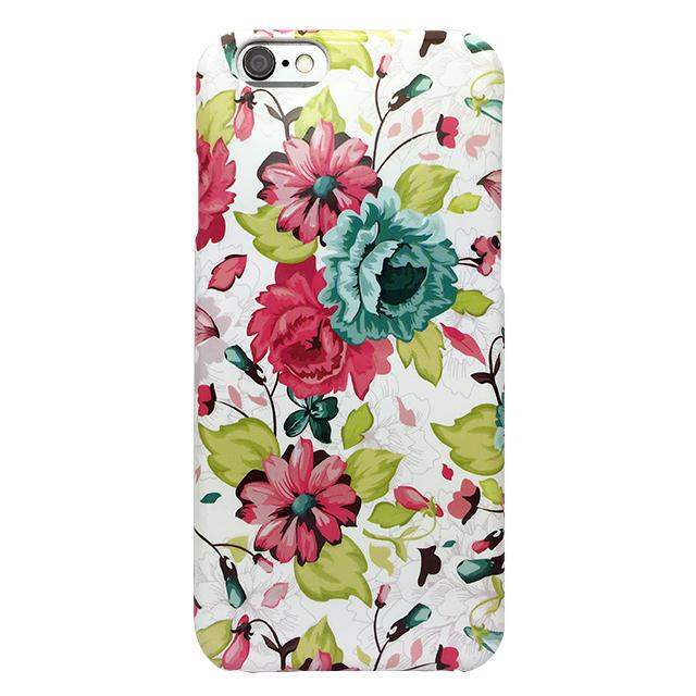 iPhone6/6s シリコンケース/ 花柄 ブルー、ピンク