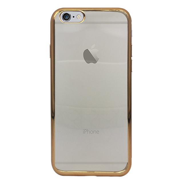 iPhone6s/6 シリコンケース/ ゴールド