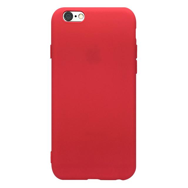 iPhone6s/6 シリコンケース/ レッド