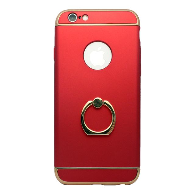 iPhone6/6s / リング付きメタルケース / レッド