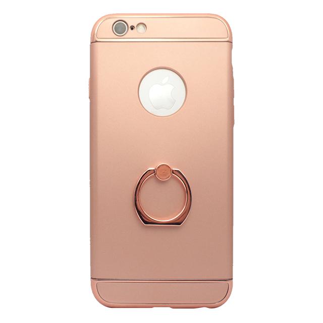 iPhone6/6s / リング付きメタルケース / ピンク