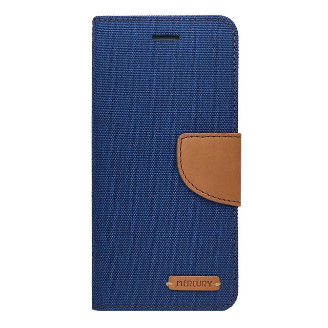 iPhone6/6s / 手帳型ケース /PUレザー&キャンバス生地 ブルー
