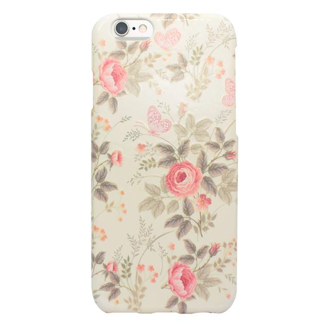 iPhone6/6s シリコンケース/ バラ・蝶