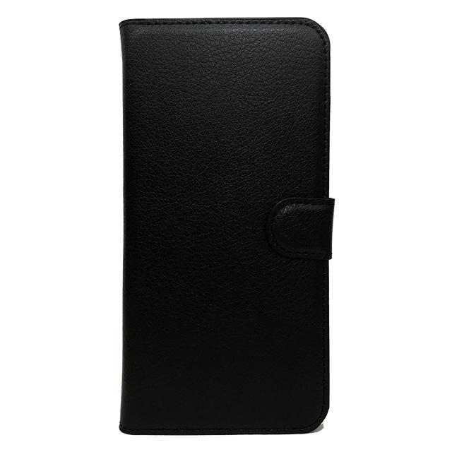 iPhone6 plus/6s plus 合皮ブックレットケース/ ブラック