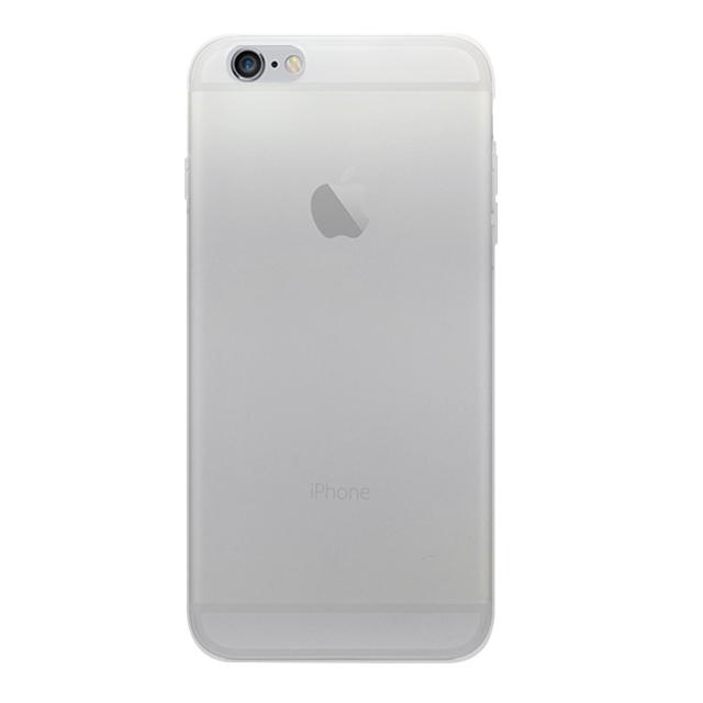 iPhone6 plus/6s plus 無地透明シリコンケース/ 白