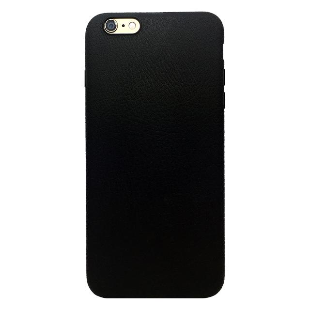 iPhone6 plus/6s plus 合皮柄シリコンケース/ ブラック