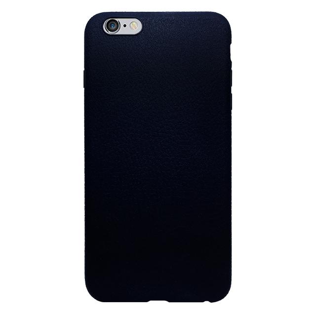 iPhone6 plus/6s plus 合皮柄シリコンケース/ ネイビー