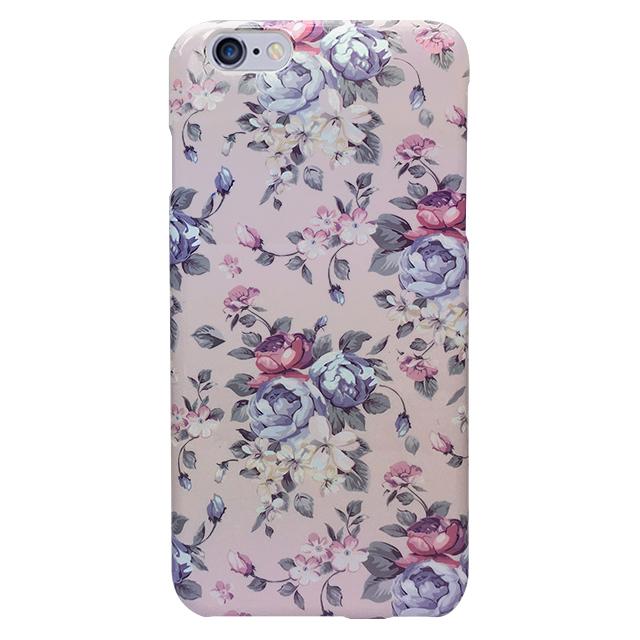iPhone6 plus/6s plus シリコンケース/ 花柄、パープル