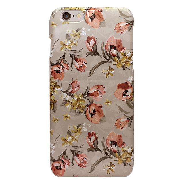 iPhone6 plus/6s plus シリコンケース/ 花柄、ベージュ