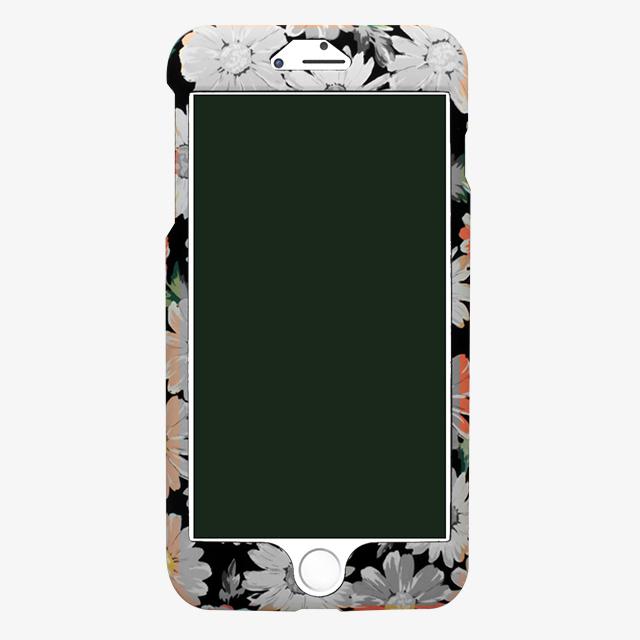 iPhone6/6s オレンジ花柄両面ケース