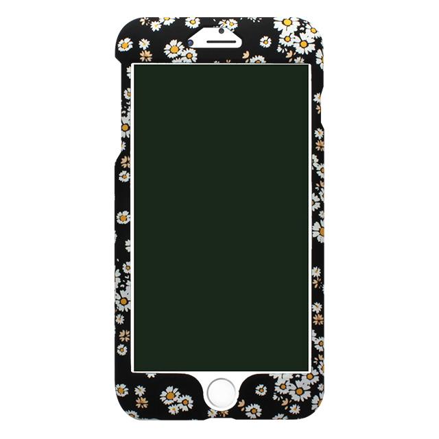 iPhone6/6s しろ小花柄両面ケース