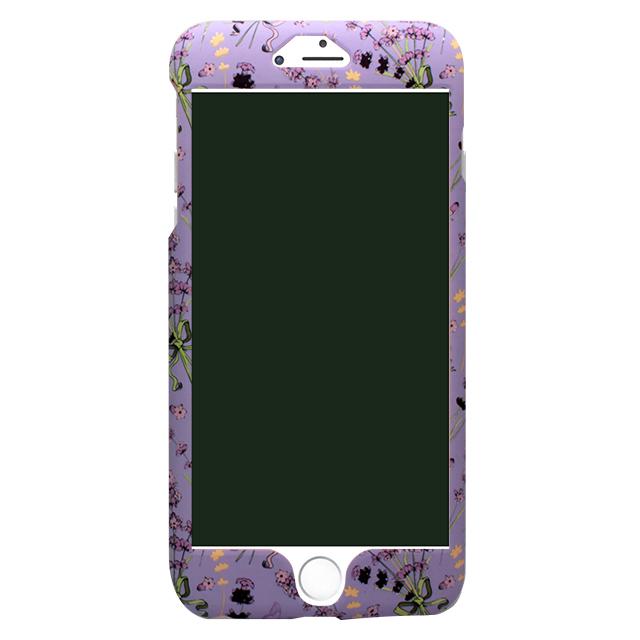 iPhone6/6s 小花柄両面ケース /パープル