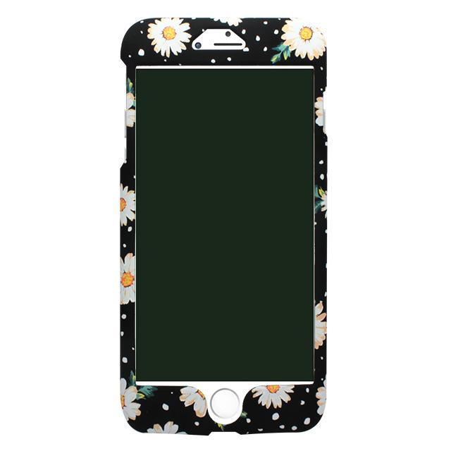 iPhone6/6s 白花柄両面ケース /ブラック