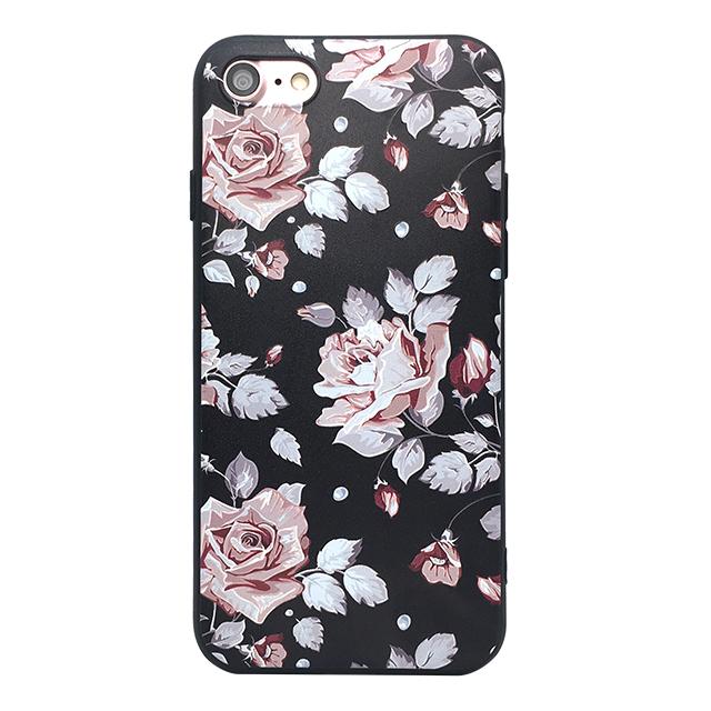 iPhone7 シリコンケース/ バラ