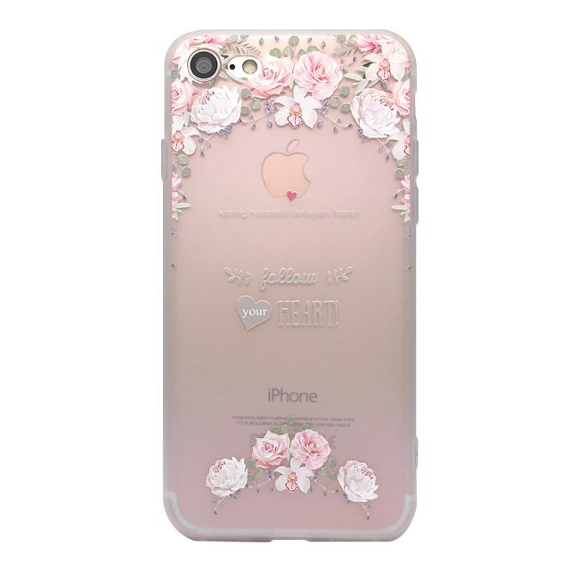 iPhone7 シリコンケース/ バラ ・ハート