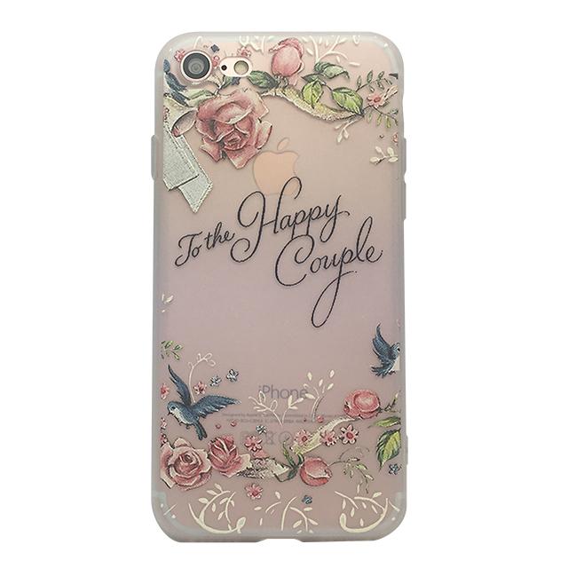 iPhone7 シリコンケース/ バラ ・鳥