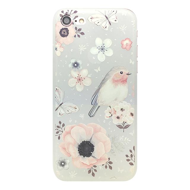 iPhone7 シリコンケース/ 花 ・ 蝶 ・鳥