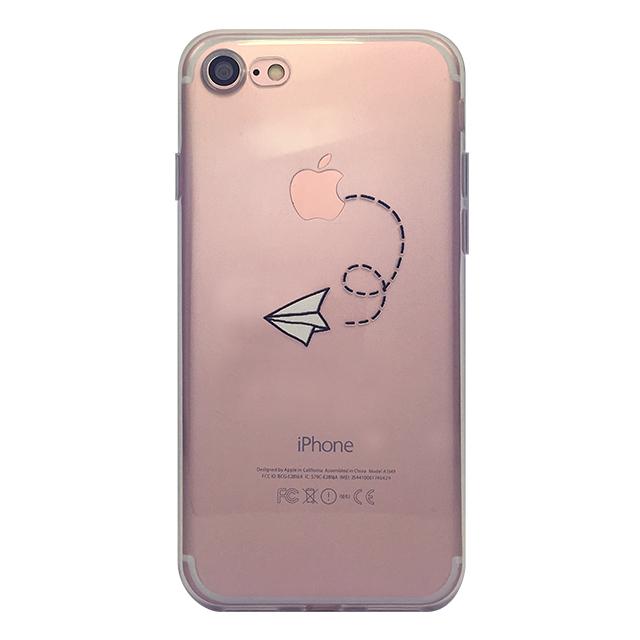 iPhone7 シリコンケース/ 紙飛行機