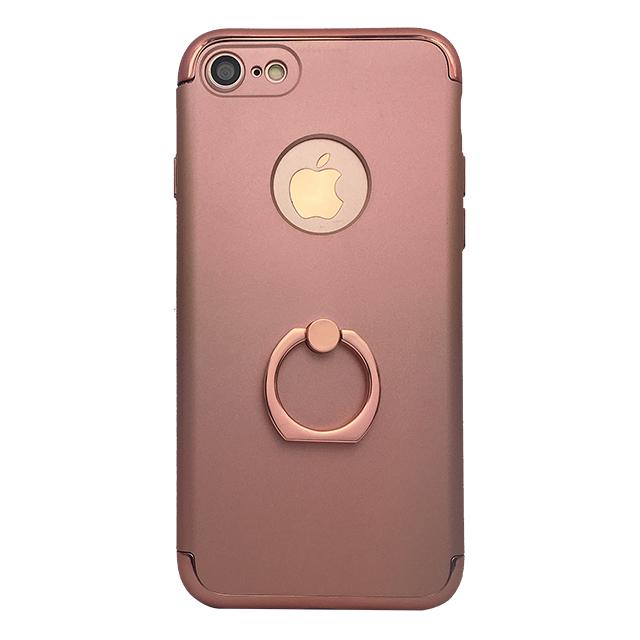 iPhone7 / リング付きメタルケース / ピンク