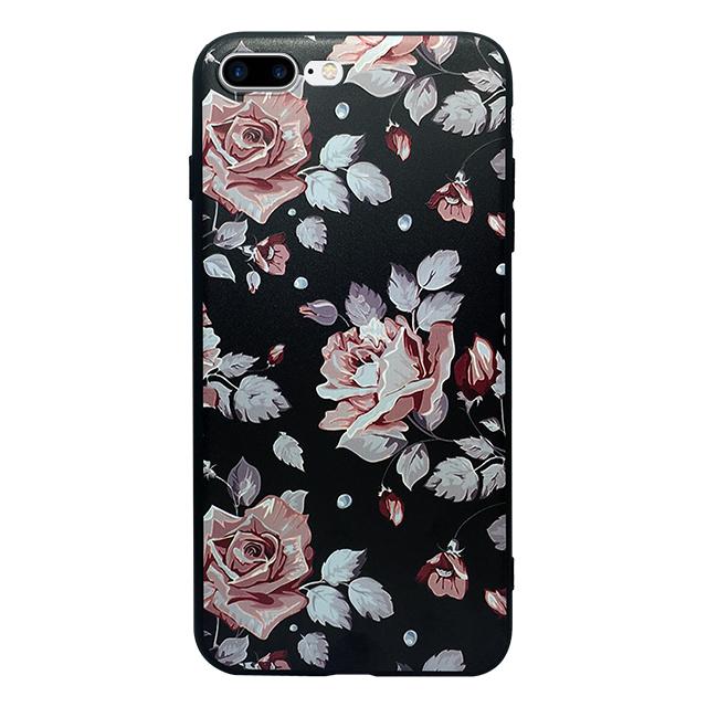 iPhone7 plus シリコンケース/ バラ