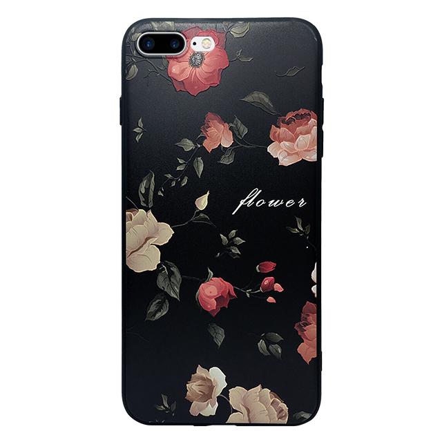 iPhone7 plus シリコンケース/ 花