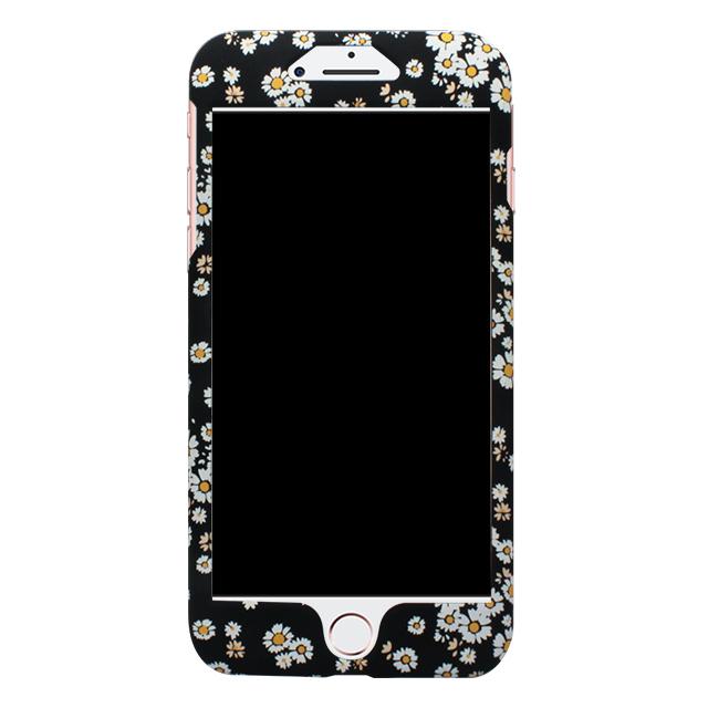 iPhone7Plus / 小花柄両面ケース / ブラック
