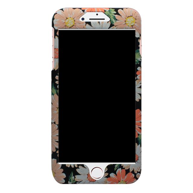 iPhone7Plus / オレンジ花柄両面ケース