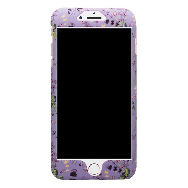 iPhone7Plus / 小花柄両面ケース /パープル