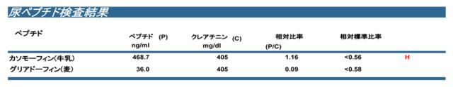グルテンカゼインペプチド検査(尿検査)