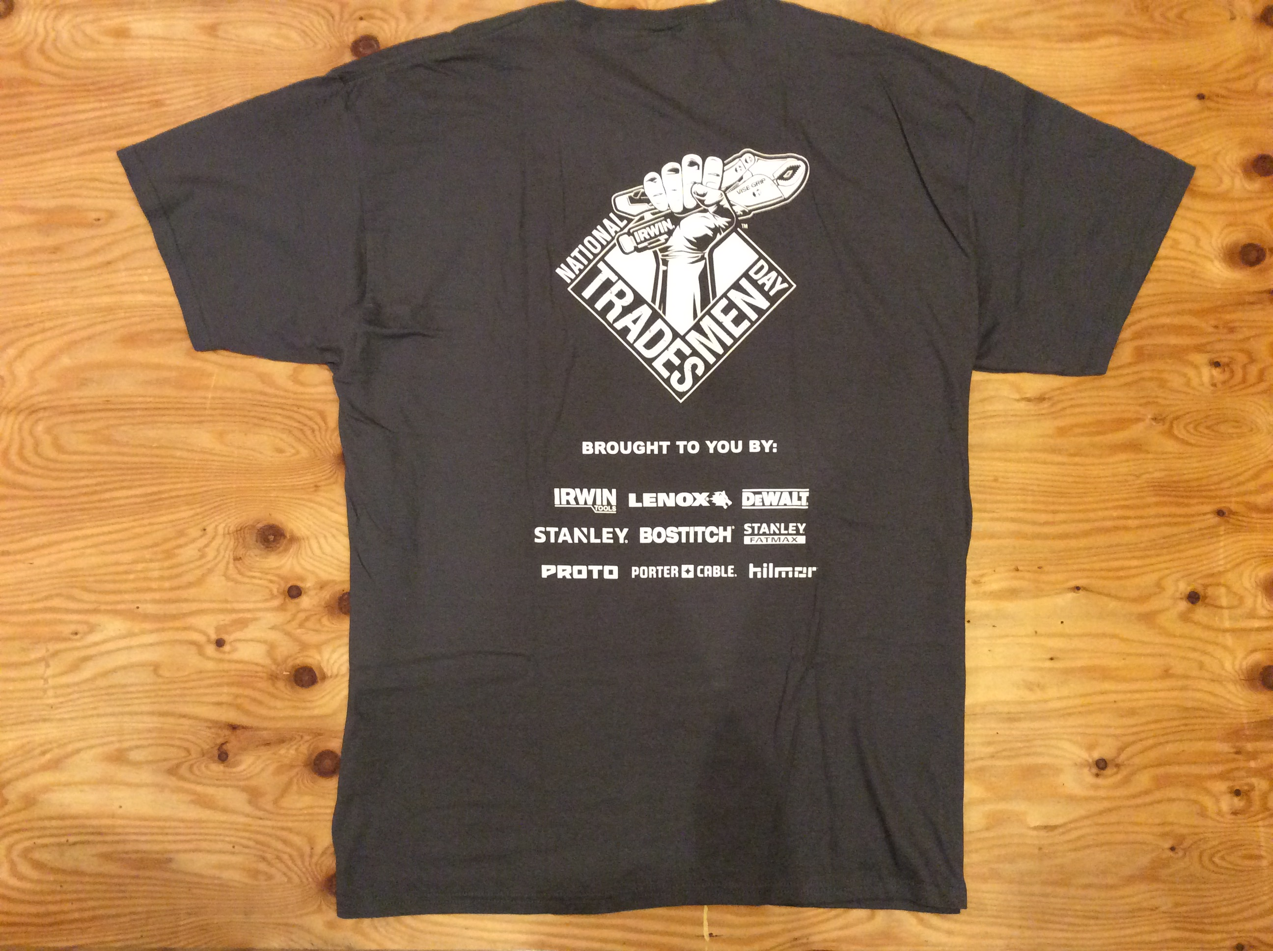 """IRWIN TOOLS """"NATIONAL TRADESMEN DAY"""" T-SHIRT / XL / USED"""