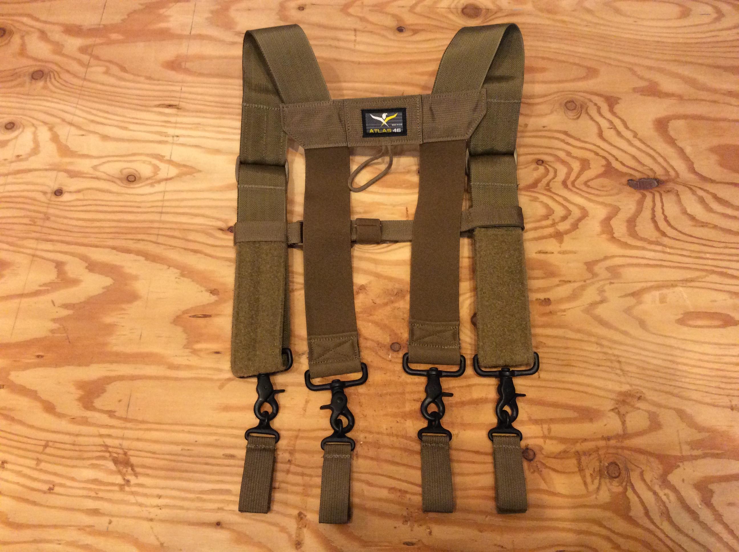 ATLAS46 24∕7 Comfort-Tuff™ Suspenders Heavy Duty /COLOR COYOTE
