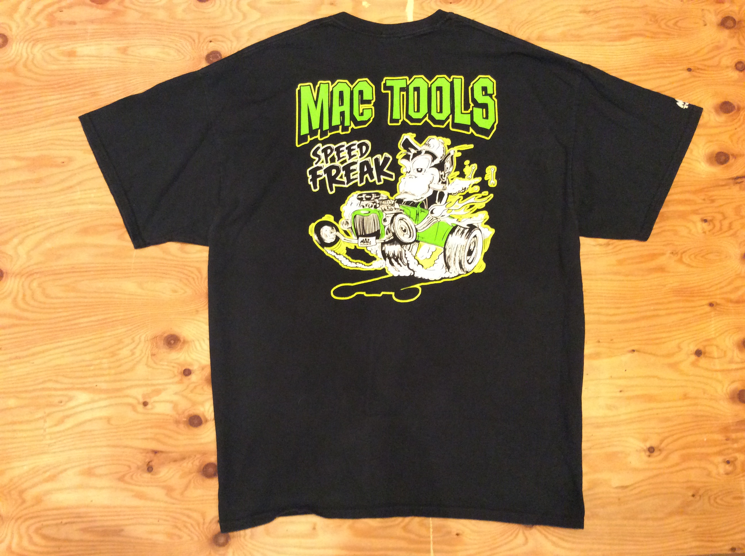 Mac Tools Speed Freak Graphic T Shirt / Black / 2XL / USED