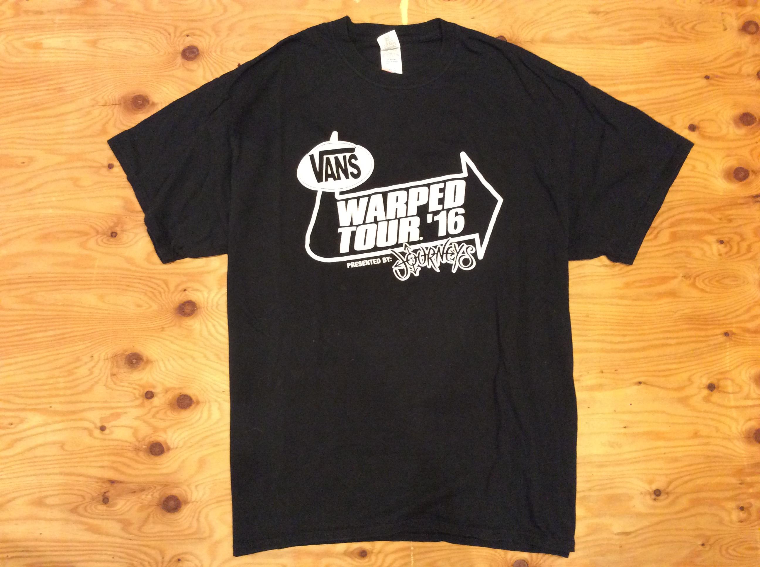 "Vans ""Warped Tour 2016 Local Crew"" T-shirt / XL / USED"