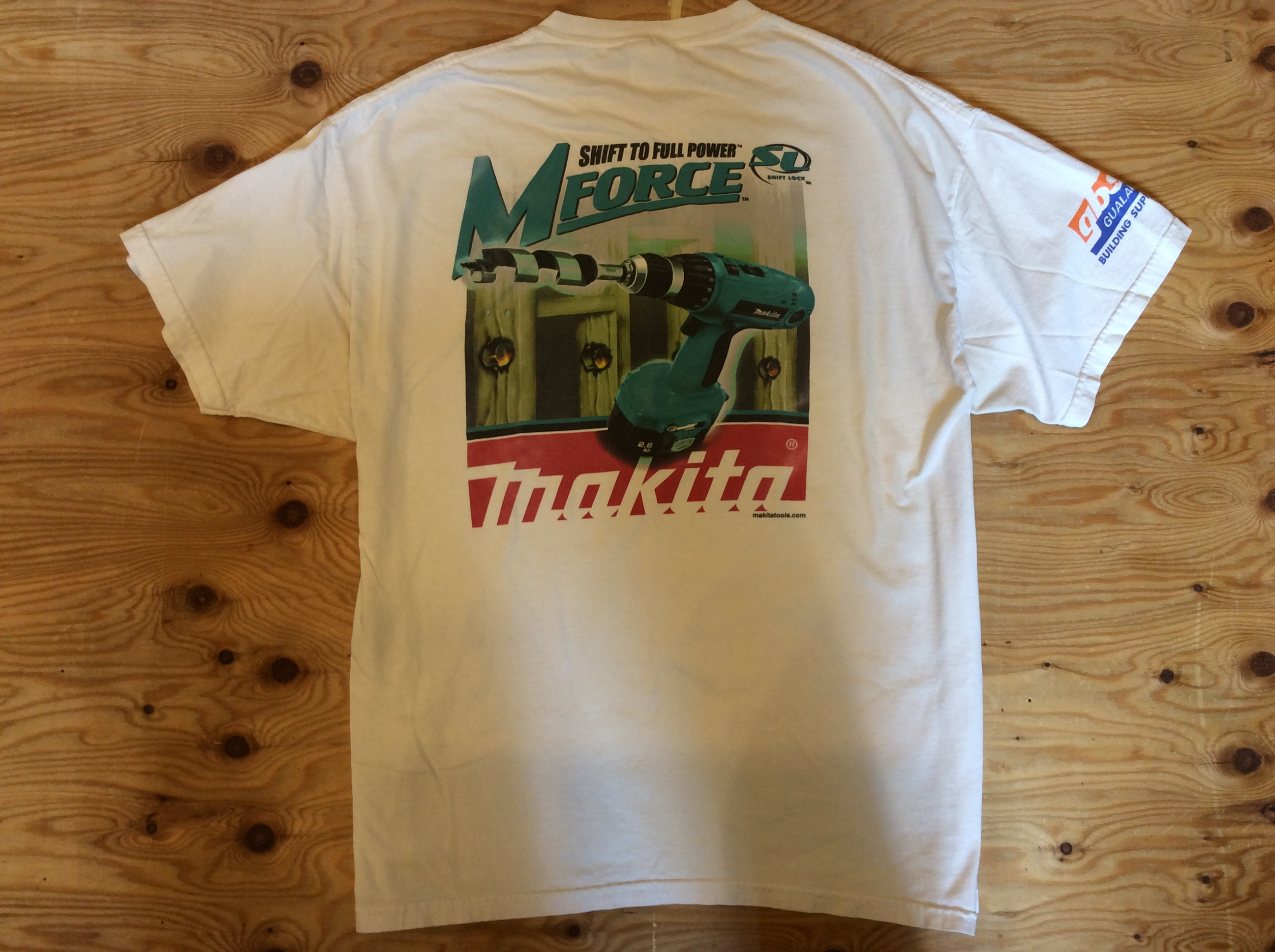 """MAKITA""""SHIFT TO FULL PO WER""""T-SHIRT / SIZE XL /USED"""